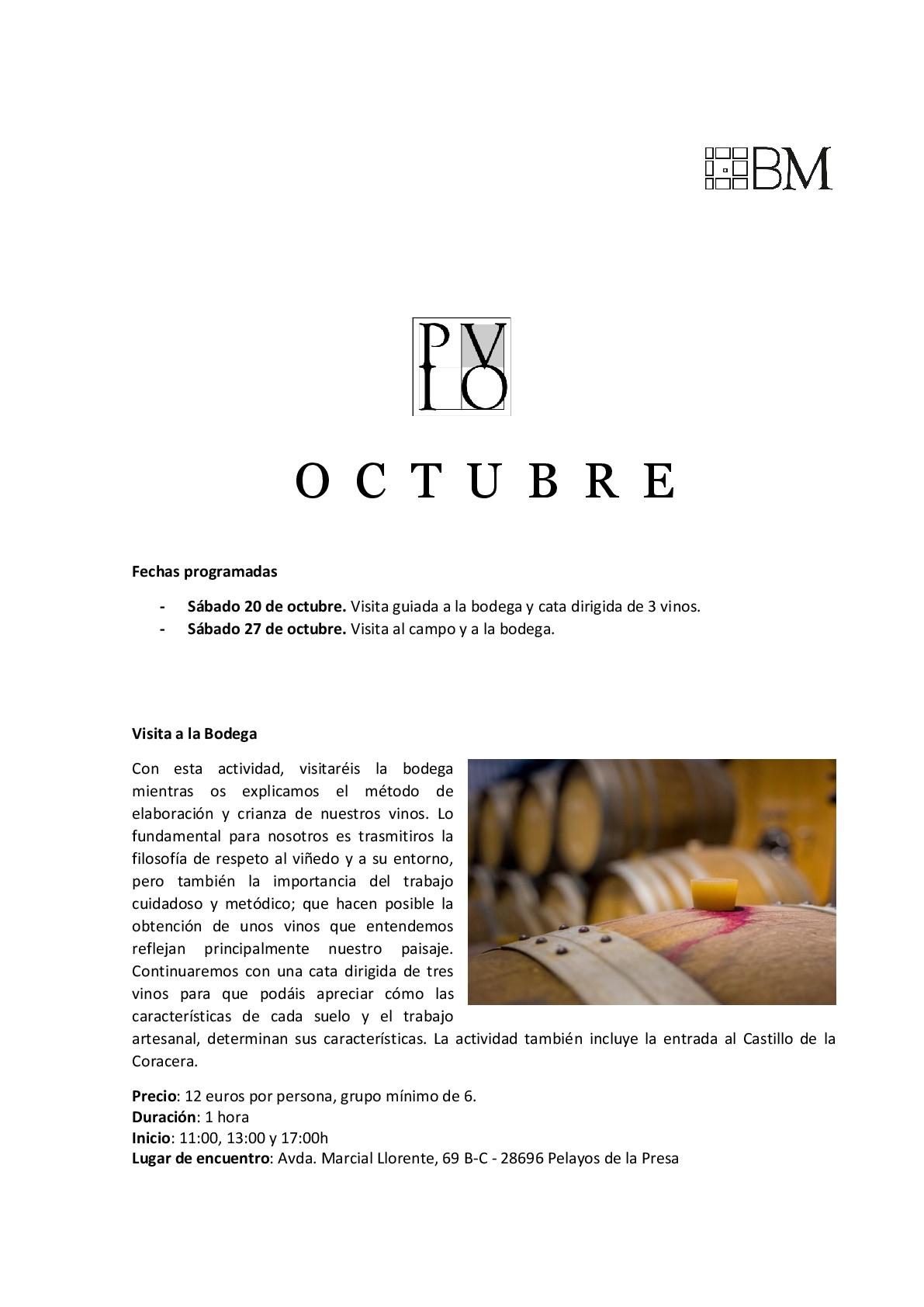 calendario enoturismo octubre